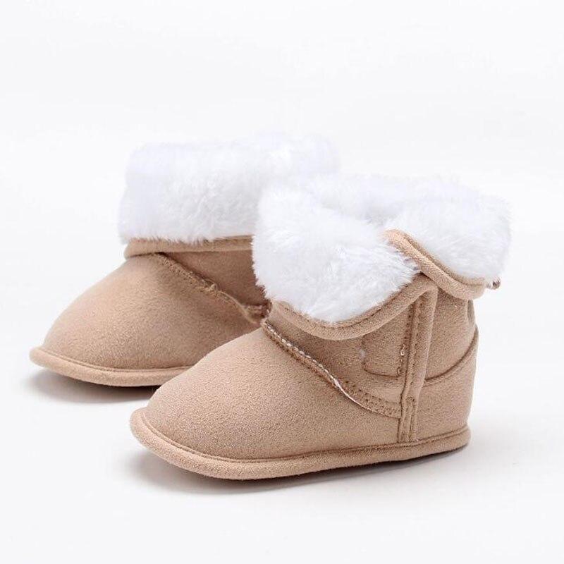 1 Paar Baby Warme Plüsch Booties Mode Junge Mädchen Winter Booties Prewalker Kleinkind Zu Fuß Schuhe 0-18 M