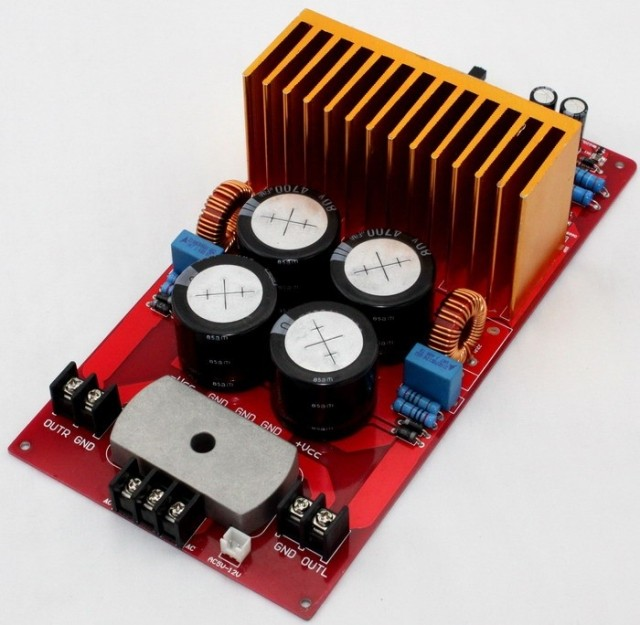 ФОТО YJ IRS2092 IRFB4227 500W+500W 4ohm Class D Amplifier completed board