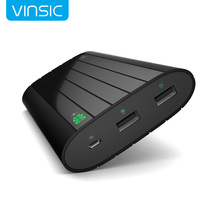 Vinsic 18650 güç banka 20000 mah lcd harici pil taşınabilir mobil hızlı şarj çift usb powerbank iphone 6 samsung tablo için