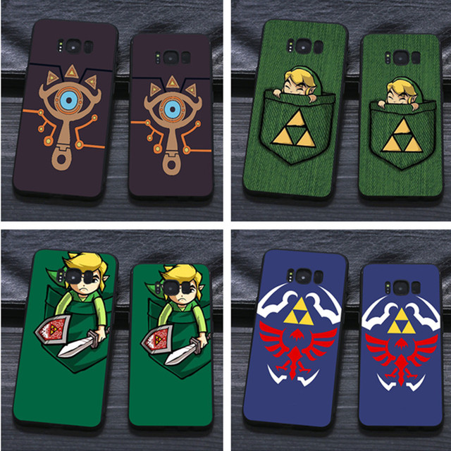 new concept e9996 9787a US $1.92 29% OFF Epic Zelda Sheikah Slate TPU black Silicone cover case For  Samsung s8 s9 plus s6 s7 s6edge s7edge s5-in Half-wrapped Case from ...