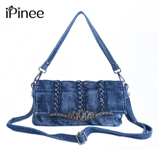dce9b2a95d6e iPinee Multi-Pocket Crossbody Purse Bag Women Small Denim Messenger Bags  Female Crossbody Shoulder Bags