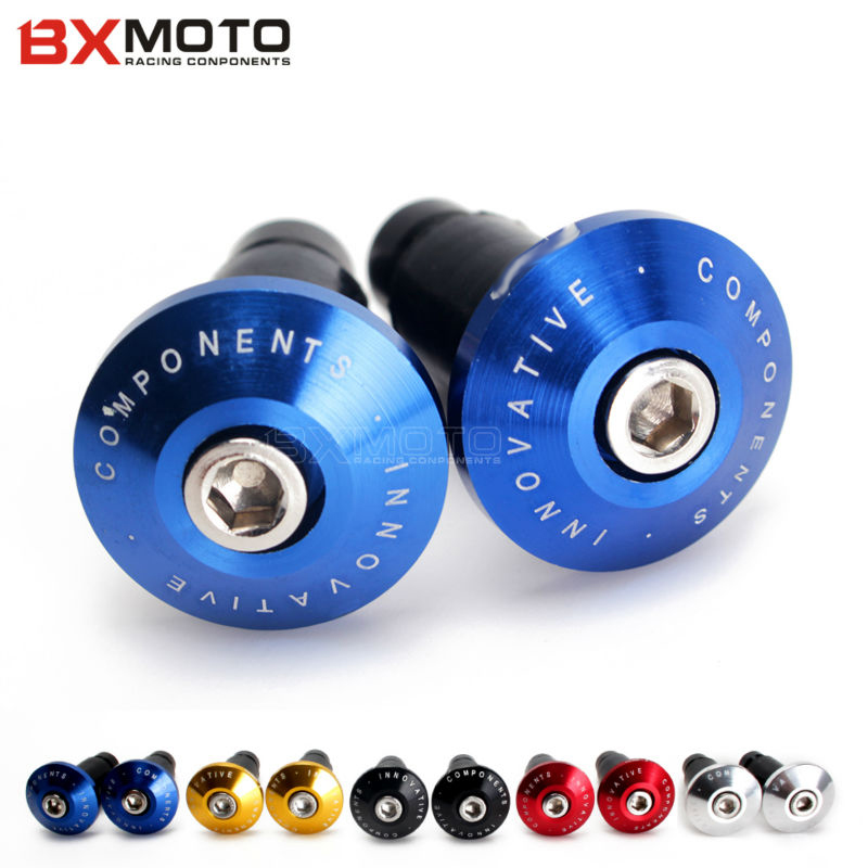 Motorcycle Dirt Bike Anti Vibration 7/8 Handlebar Grips Bar End Plugs for Honda Kawasaki Suzuki Yamaha BMW KTM Ducati Triumph dwcx motorcycle adjustable chain tensioner bolt on roller motocross for harley honda dirt street bike atv banshee suzuki chopper