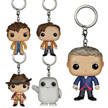 Doctor Who Theme Keychain 1PC Toys Action Figure Collectible Model Vinyl Dolls Keyring Children Gift Very Cute