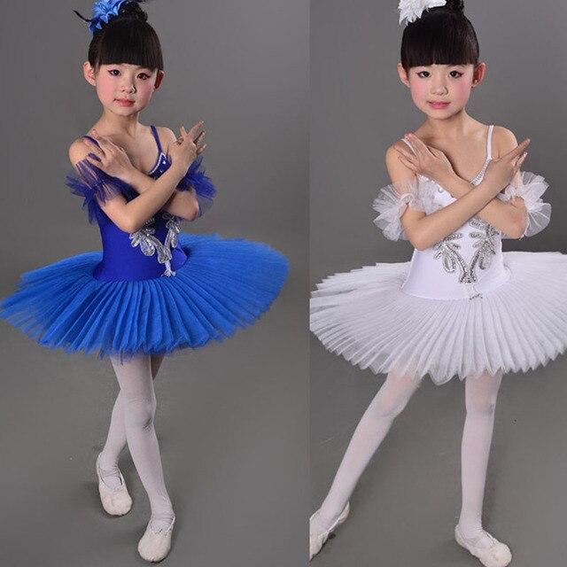 3 Цвет Синий Красный Белый Дети Лебедь Костюм Дети Балет Танец Сценический Костюм Профессиональная Балетная Пачка Dress For Girl