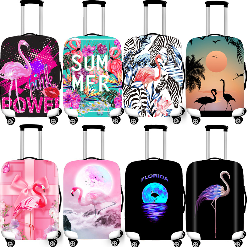Elastic Luggage Protective Covers 18-32 Case For Suitcase Protective Cover Suitcase Cases Covers Travel Xl Accessories Flamingo