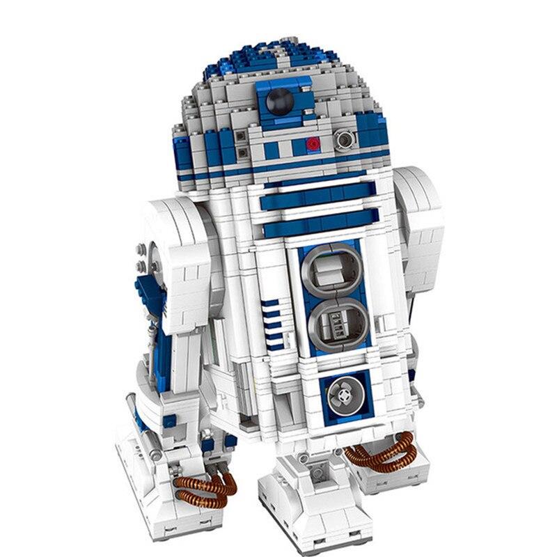 2207pcs Genuine Star Series The R2 Robot Set D2 Out Of Print Building Blocks Bricks Toys Compatible With 10225 Brinquedos kazi 608pcs pirates armada flagship building blocks brinquedos caribbean warship sets the black pearl compatible with bricks