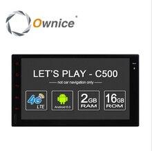 Ownice c500 android 6.0 2g ram 1024*600 de la ayuda 4g sim lte red de radio Navegación GPS 2din Universal de coches reproductor de dvd Para Nissan