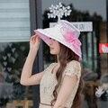 2016 nuevo llega el sol sombreros Plegables playa femenino de verano tapas UV protector solar verano de las mujeres tapas