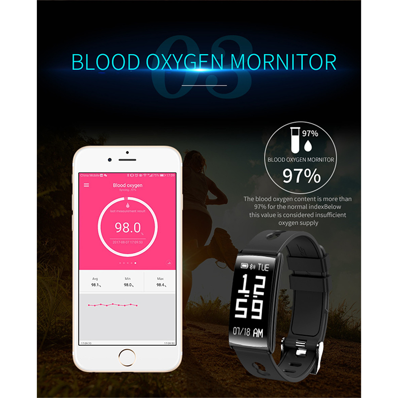 US $23 82 20% OFF|Bluetooth Waterproof HM68 Smart Band Fitness Tracker  Bracelet Heart Rate Monitor Blood Pressure Smartband For Android mi band  3-in