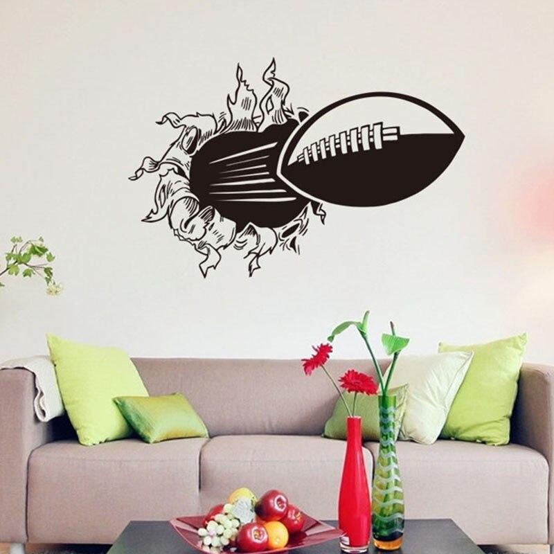 acquista all'ingrosso online rugby wall stickers da grossisti ... - Stencil Muro Camera Da Letto