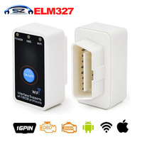 Newest Version Super Mini ELM 327 Wifi with Switch ELM 327 OBD2 OBDii CAN BUS Diagnostic Tool Works on Android Symbian Windows