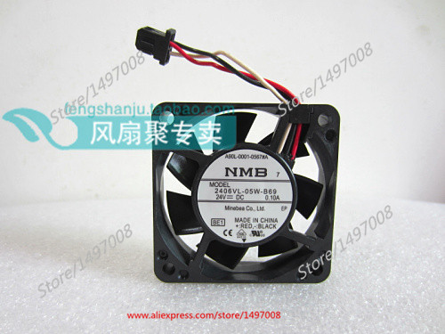 NMB-MAT 2406VL-05W-B69, BE1 DC 24V 0.10A, 60x60x15mm Server Square fan free shipping nmb new 1611vl 05w b49 4028 4cm 24v cooling fan