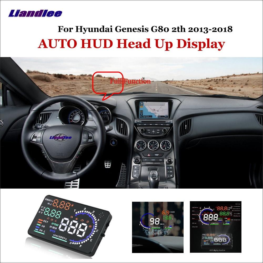 Liandlee voiture tête haute affichage HUD pour Hyundai Genesis G80 2th 2013-2018 dynamique conduite ordinateur HD projecteur écran OBD détecteur