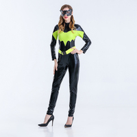 Movie Latex Superman Batman Costume for Adult Women Superhero Party Cosplay Halloween Super Hero Fancy Dress Outfits with Mask