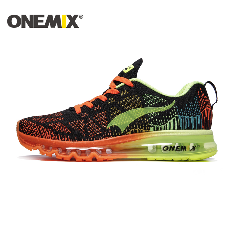 ONEMIX 2016 Kudde Mäns Löpeskor Andas Runner Atletic Sneakers Män Outdoor Sports Walking Skor gratis frakt