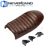 Universal Motorcycle Hump Custom Cafe Racer Seat Vintage Seat Covers Black Brown For Harley Davidson Bobber