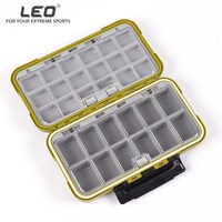 Leo Waterproof Fishing Tackle Boxes Large Double Side Adjust Compartments Fishing Storage Case Fly Fishing Lure