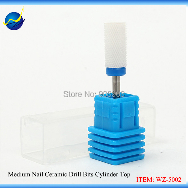 New Nail Ceramic Drill Bits Cylinder Top 3/32