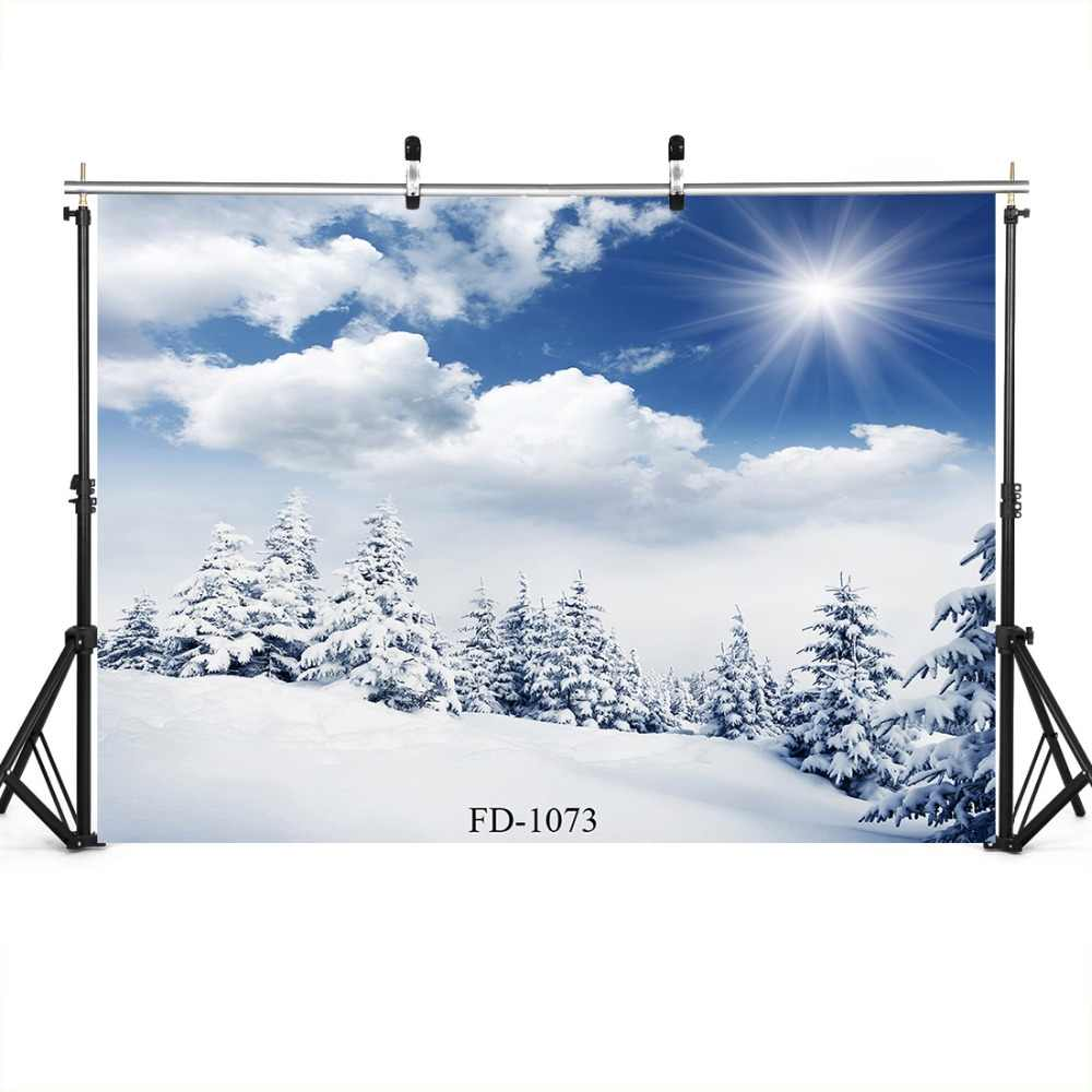 Snowy Winter Scenic Photography Backdrops Wedding Portrait Birthday Party Outdoor Photo Backgrounds For Photo Studio Photobooth