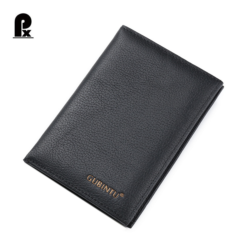 GUBINTU Brand 100%Genuine Leather Wallet Men Purses black wallets male clutch bag Passport Cover Coin Purse carteiras cuzdan banlosen brand men wallets double zipper vintage genuine leather clutch wallets male purses large capacity men s wallet
