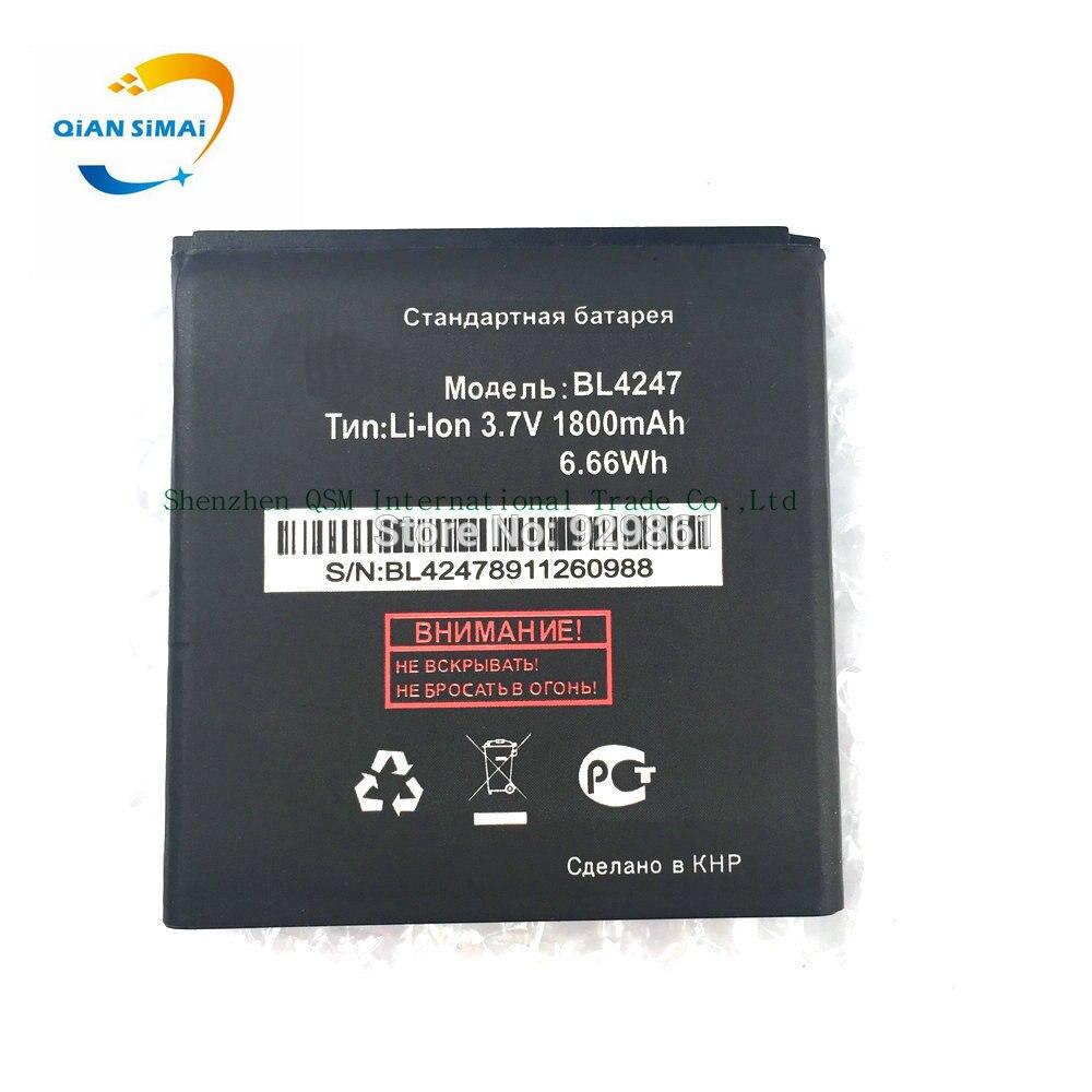 QiAN SiMAi 1PCS 1800mAh <font><b>BL4247</b></font> New <font><b>battery</b></font> For fly <font><b>iq442</b></font> <font><b>IQ442</b></font> Batterij Bateria high quality +Track Number