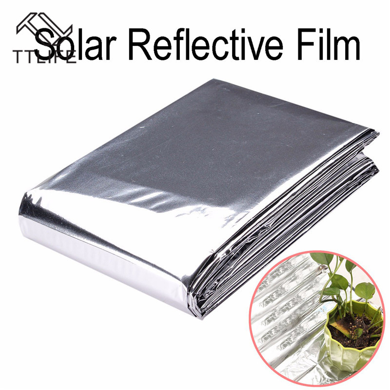 TTLIFE Silver Plant Hydroponic Highly Reflective Mylar Film Grow Light Accessories Greenhouse Reflectance Coating Plant Covers in Plant Covers from Home Garden