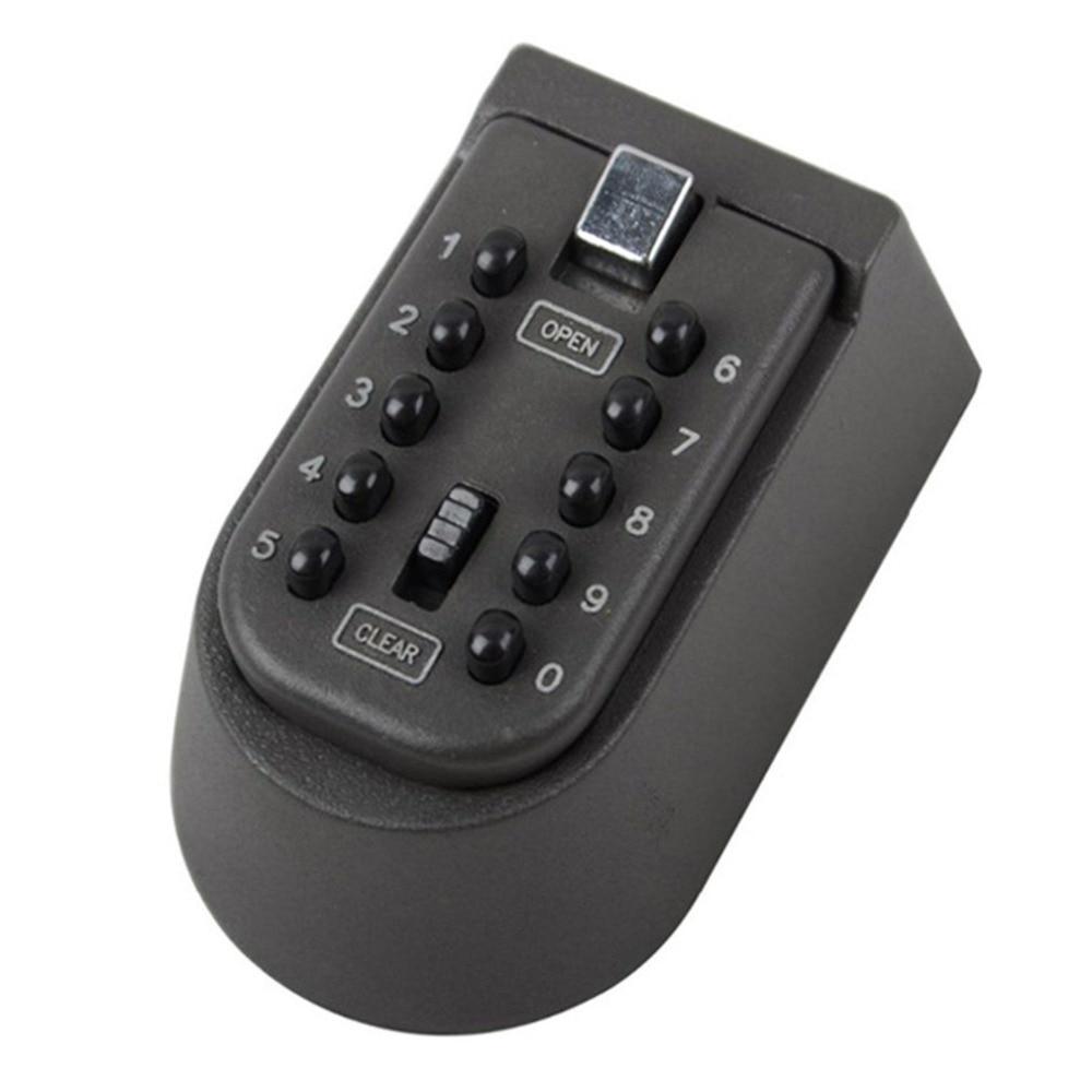 Купить с кэшбэком Electronic In Safe Box Iron Wall Hanging Key Code lock Thickening Metal Key Box Housekeeper Secret Box Secret hiding