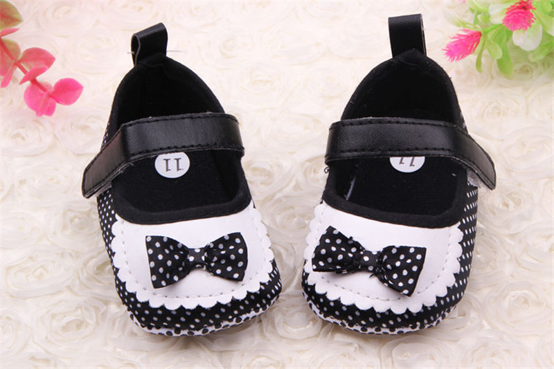 Purple 6-9 Month Soft Baby Shoes Polka Dots Trainers Shoes Soft Sole Bowknot Princess Prewalker for Infant Girls Baby