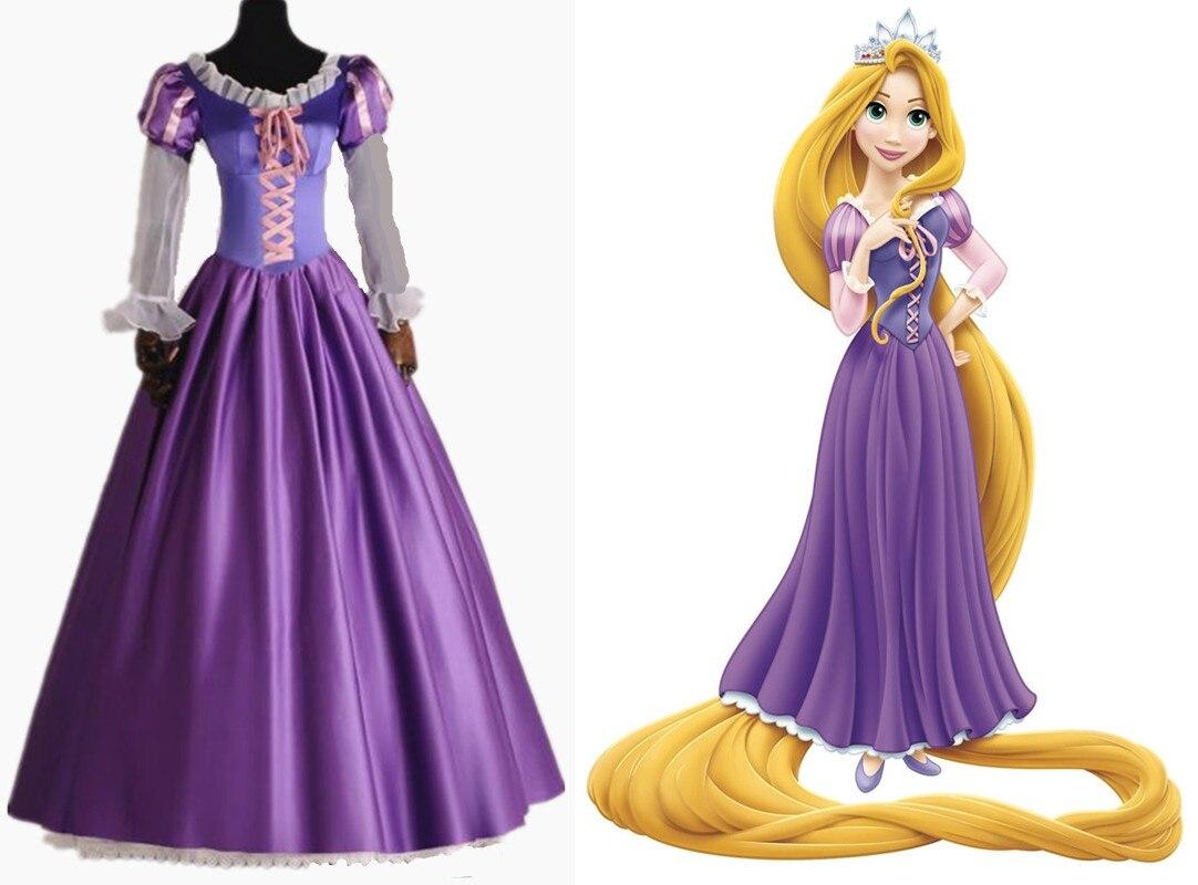 Halloween Adult Tangled Rapunzel Princess Dress Cosplay ...