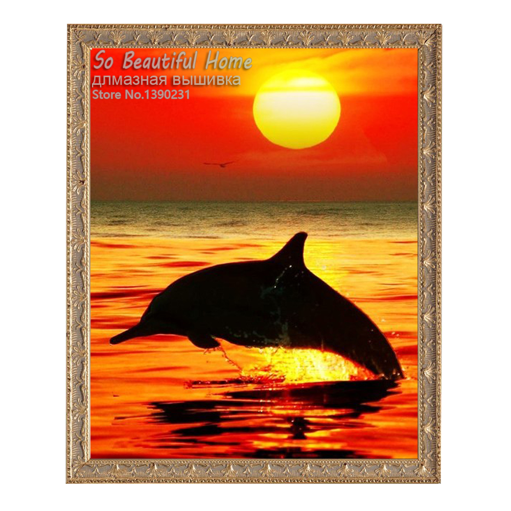 5D поделки алмазов картина Рождество diamond Вышивка Алмазная мозаика вышивки крестом горный хрусталь украшения dophins sh61292