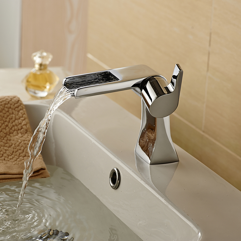 Unique Basin Faucets Modern Waterfall Faucet Hot and Cold Chrome Brass Bathroom Mixer Tap Single Handle pastoralism and agriculture pennar basin india
