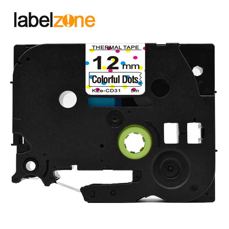 TZE231 เทป Brother p - touch printers ดอกไม้รูปแบบ Tze-231 12 มม. สำหรับบราเดอร์ Labeler ซาตินริบบิ้น