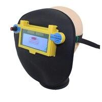 Sombra oscura DIN9-DIN13 auto Solar oscurecimiento automático máscara de soldador de cuero/ojos proteja máscara de soldadura casco/máscara de seguridad para soldador máquina