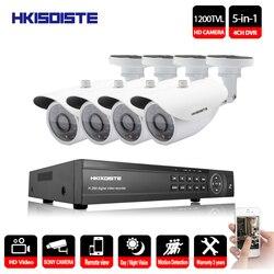 4CH 1080 P HDMI 1080 P DVR SONY 1200TVL HD na zewnątrz aparatu bezpieczeństwa w 4 kanałowy CCTV AHD DVR zestawy nightvision KAMERA TELEWIZJI PRZEMYSŁOWEJ zestaw