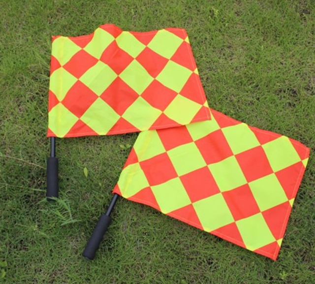 2pcs/set Soccer referee flag Fair Play Sports match Football Linesman flags  Referee equipment GYH