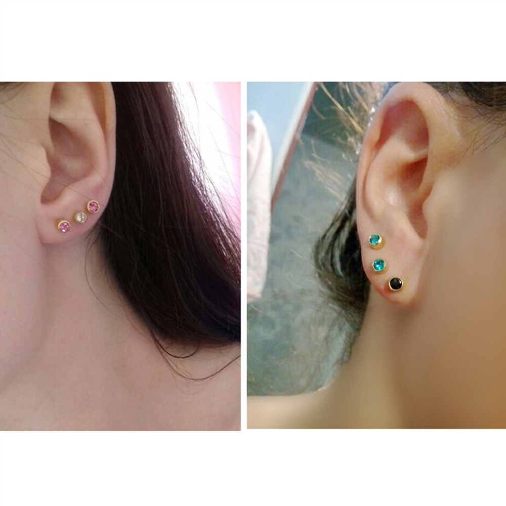 8a10b9484 Surgical Stainless Steel Birthstone Stud Earring Jewelry Crystal Ear  Piercing Studs Tragus Cartilage Helix-in Stud Earrings from Jewelry &  Accessories on ...