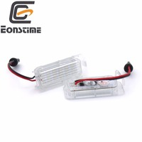 2PCS 18 LED SMD License Plate Light No Error Code For FORD Focus MK2 Hatchback Facelifted