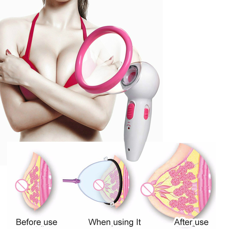 Breast Enlargement Vacuum Suction Breast Pump Electric Massager Female Udder Gather Fat Grow Again Enhancer AB/C Cup For choose все цены