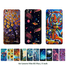 Soft TPU Case for Lenovo Vibe K5 Plus Silicone Cover Back Phone Cases Oill Printed for A6020 / A6020a46 / Lemon 3 Shell(China)