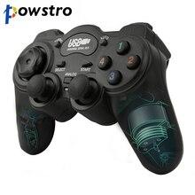 Manette de jeu filaire manette USB2.0 choc Joypad manette de jeu pour ordinateur portable PC Win7/8/10/XP/Vista