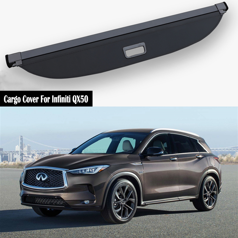 Rear Cargo Cover For Infiniti QX50 2018 2019 Privacy Trunk Screen Security Shield Shade Auto Accessories