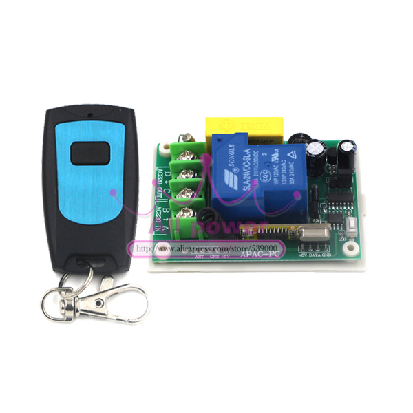 <font><b>Outdoor</b></font> 200m long distance rf wireless remote control <font><b>light</b></font> switch 220v 30A, 1CH for home automation 1 receiver + 1 transmitter