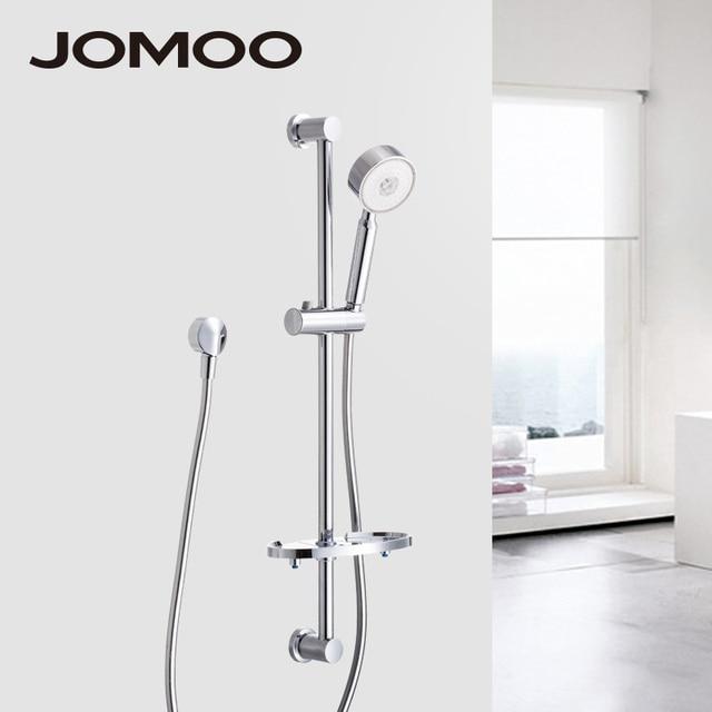 Jomoo Shower Set Hand Head Chrome Bathroom Slide Bar Flexible Hose Soap Dish