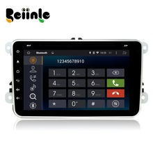 Beiinle Android 4.4.4  GPS Navigator DVD Radio  QUAD CORE 16G 2 Din Car 1024*600  for VW Passat B6 B7 Passat CC Jetta Polo