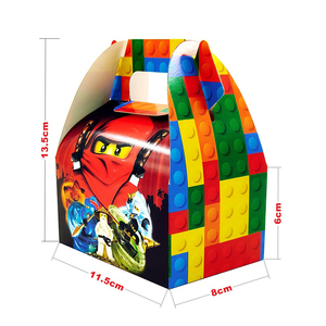 Image 5 - Party Supplies 50pcs สำหรับ 12 เด็กใหม่ Ninjagoing Birthday PARTY ตกแต่งชุด, จาน + ถ้วย + ฟาง + ธง + tablecover