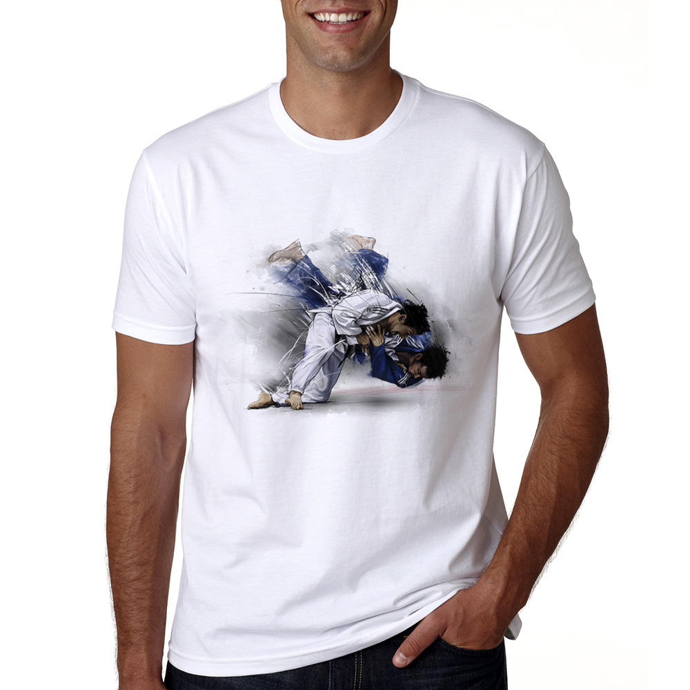 2018 New Men's Judo   T     Shirts   Summer Short Sleeve Evolution of A JudoT-  shirt   Judo Funny Print   T  -  shirt   Male Cool Judo   T     Shirt