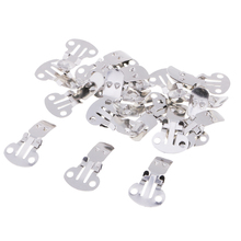60pcs/Pack Blank Stainless Steel Shoes Clips 3 Sizes for DIY Crafts Findings Accessories for Shoes Clothes Bags