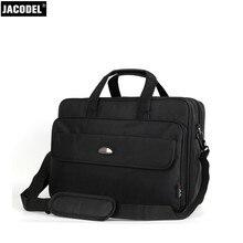 Jacodel мужчины 17 дюймов ткань оксфорд портфель для ноутбука 16 15.6 дюймов Сумка для ноутбука Большой утолщение шесть отделение hangbags