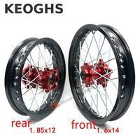 Keoghs Dirt Bike Wheel Rims Front And Rear 1.6 14 1.85 12 Inch For Honda/yamaha/suzuki/kawasaki/pit Bikes/gokart/crf/bbr