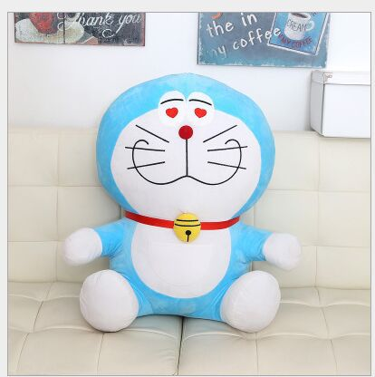 lovely plush heart-eyes doraemon toy stuffed cute doraemon doll perfect gift about 35cm